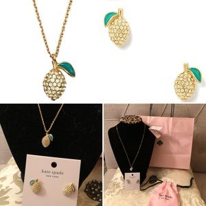Kate Spade Lemon Necklace & Earrings